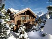 Luxury chalet with a terrace and a swimming pool for rent in Courchevel, France