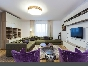 Modern style 3-room apartment with a terrace to let at 35, Smolenka Embankment St-Petersburg