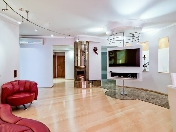 Stylish 4-room apartment rental new house with garage at 6, Michurinskaya Str., St-Petersburg
