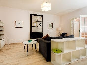 Rent modern style 3-room apartment with balcony at 108, Obvodny ch., St-Petersburg