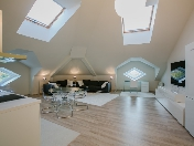 Author's design 3-room attic to let at 1, Konstantinovsky pr., Krestovsky island, SPB