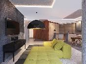 Great view 3-room apartment rental elite complex in Repino village Saint-Petersburg