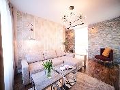 Снять современную 3-комнатную квартиру с балконом, наб. р. Смоленки, 35, СПБ