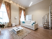 Modern style 2-room 2-level apartment rental in the center at 5, Moika Emb., St-Petersburg