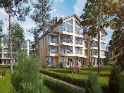 "1-3 room apartments for sale elite countryside complex ""Pervaya linia"" Komarovo St.-Petersburg"