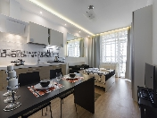 Rent modern studio-apartment with a balcony new complex Krasnoselsky district St-Petersburg