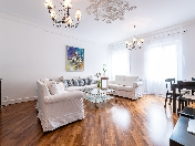 Water view stylish 3-room apartment to let 29, Griboedova Embankment St-Petersburg