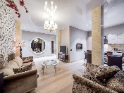 "Author's design 3-room apartment for lease in the RC ""Premier Palace"" Saint-Petersburg"