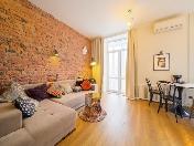 Appartement de 2-pièces de luxe à louer à 110, rue Varshavskaya Saint-Pétersbourg