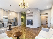 Author's design 2-room apartment for lease in an elite house 6, Smolnogo Pr. St-Petersburg