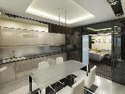 "Author's design 3-room apartment for rent elite RC ""Paradny Kvartal"" Saint-Petersburg"