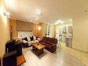 "Rent modern 2-room apartment with a balcony ""Morskoy Fasad"" complex Saint-Petersburg"