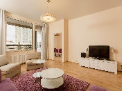 Stylish 3-room apartment rental in a modern RC at 12, Barochnaya Street St-Petersburg