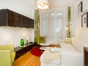 Modern style 2-room apartment to let in an elite house at 5, Graftio Str. Saint-Petersburg