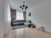 "Stylish 3-room apartment for rent in the modern RC ""Europe City"" Saint-Petersburg"