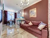 "Author's design 2-room apartment for rent in the RC ""Prestige"" Vasilevsky Island St-Petersburg"