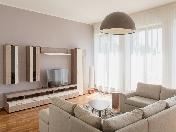 Author's design 3-room apartment for rent Krestovsky Island Saint-Petersburg