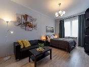 "Author's design 1-room apartment for rent RC ""Europe City"" Saint-Petersburg"