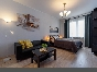 "Author's design 1-room apartment for rent RC ""Europe City"" Saint-Petersburg"