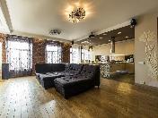Author's design 5-room attic-apartment for rent at 7, Bolshoy Pr. P S. Saint-Petersburg