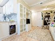 Аренда дизайнерской 3-комнатной квартиры с балконом ЖК «Skandi Klubb» С-Петербург