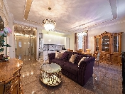 "Author's design 4-room apartment rental elite complex ""Paradny Kvartal"" St-Petersburg"