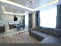 Water view stylish 3-room apartment for rent at 30, Korablestroiteley Street Saint-Petersburg