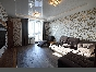 Water view modern design 3-room apartment for rent at 30, Korablestroiteley Str. St-Petersburg