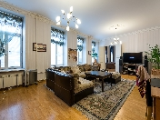 Bright and spacious 4-room apartment for rent at 23, Millionnaya Street Saint-Petersburg