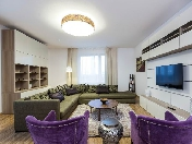 Modern style 3-room apartment with a terrace for lease at 35, Smolenka Embankment St-Petersburg